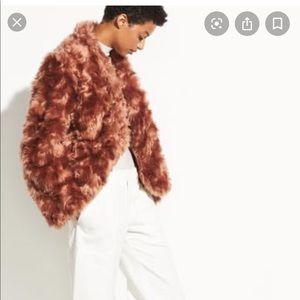 Vince faux fur coat!